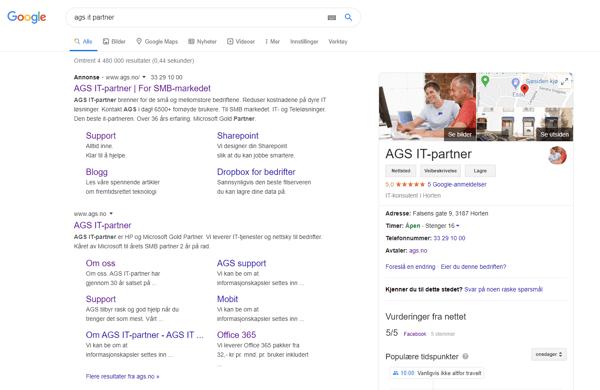 AGS Google min bedrift