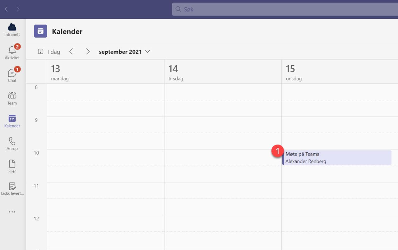 Automatisk opptak av møter i Microsoft Teams 1