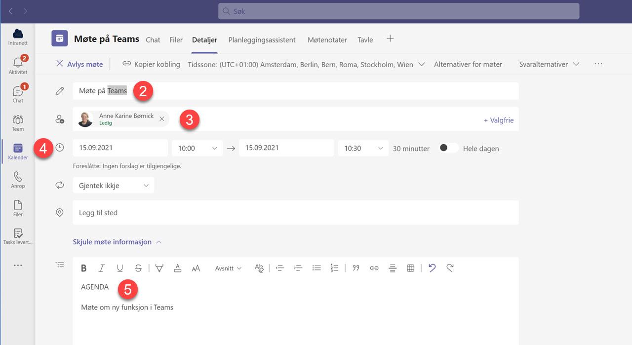 Automatisk opptak av møter i Microsoft Teams 2