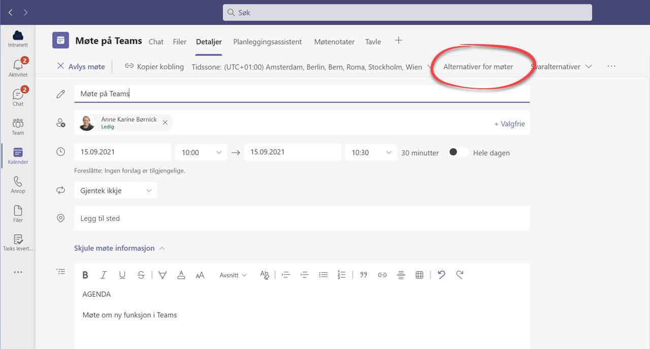Automatisk opptak av møter i Microsoft Teams 5
