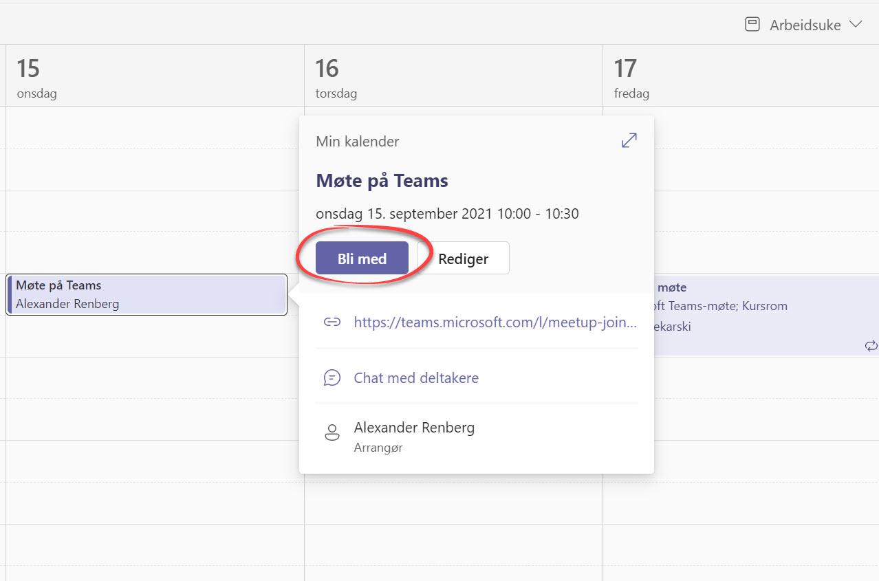 Automatisk opptak av møter i Microsoft Teams 8
