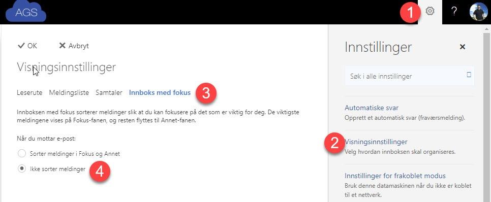 Hvordan skru av fokusert innboks i Outlook 1
