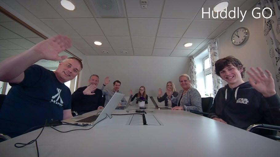 Unboxing og test - Huddley GO møteromskamera 7