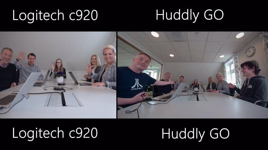 Unboxing og test - Huddley GO møteromskamera 8