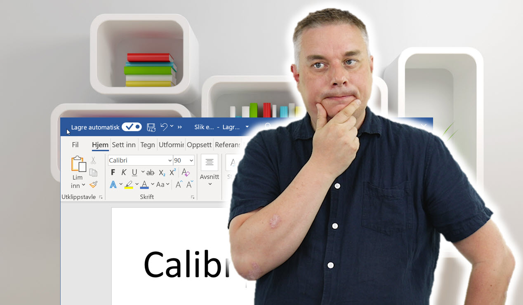 Hvordan endre standardfonten i Word thumb