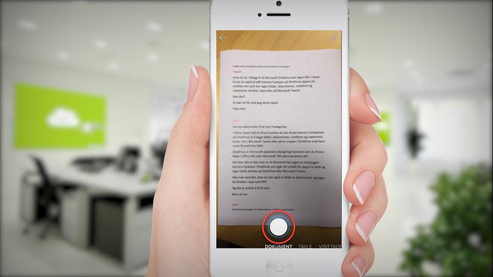 3 tøffe kamera funksjoner på OneDrive appen på mobilen 3