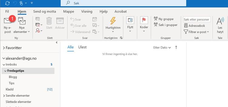 Hvordan aktivere blindkopi I Outlook 01