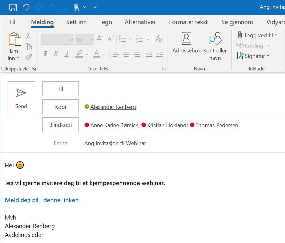 Hvordan aktivere blindkopi I Outlook 05