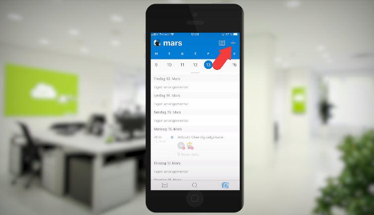 Hvordan booke et Microsoft Teams møte med mobilen 4