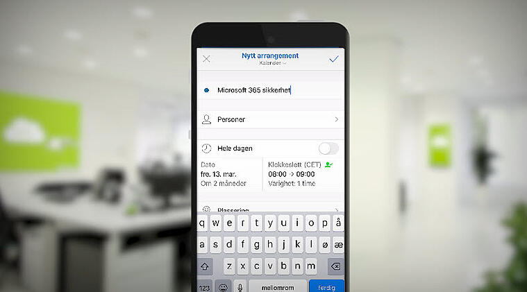 Hvordan booke et Microsoft Teams møte med mobilen 5