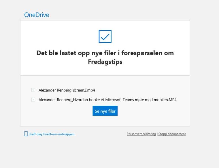 Hvordan bruke Request Files funksjonen i OneDrive for Business 13