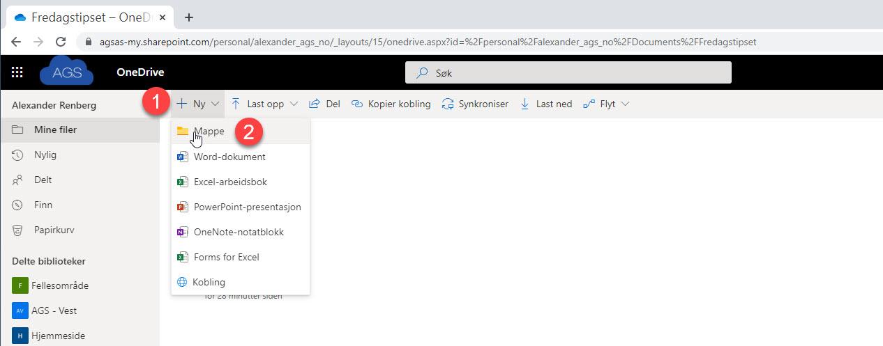 Hvordan bruke Request Files funksjonen i OneDrive for Business 3