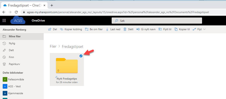Hvordan bruke Request Files funksjonen i OneDrive for Business 4