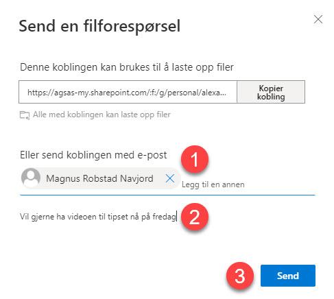 Hvordan bruke Request Files funksjonen i OneDrive for Business 7