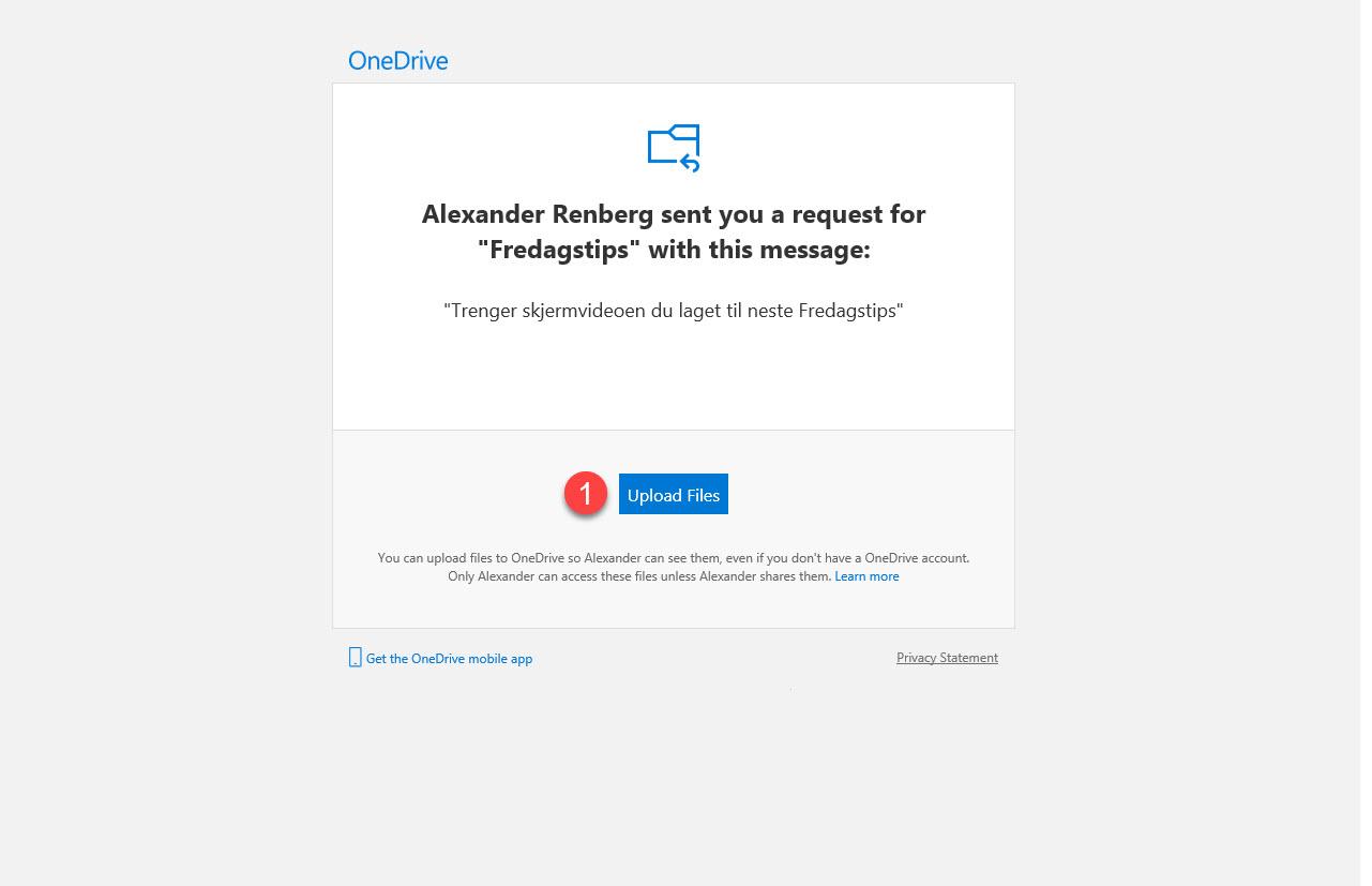 Hvordan bruke Request Files funksjonen i OneDrive for Business 8
