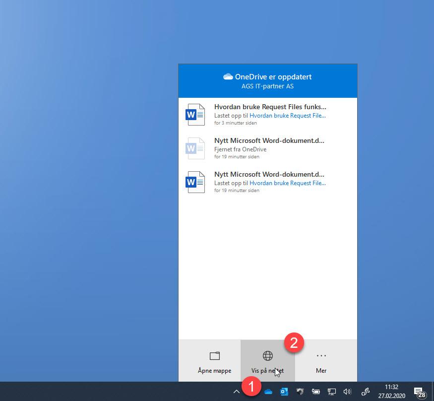Hvordan bruke Request Files funksjonen i OneDrive for Business