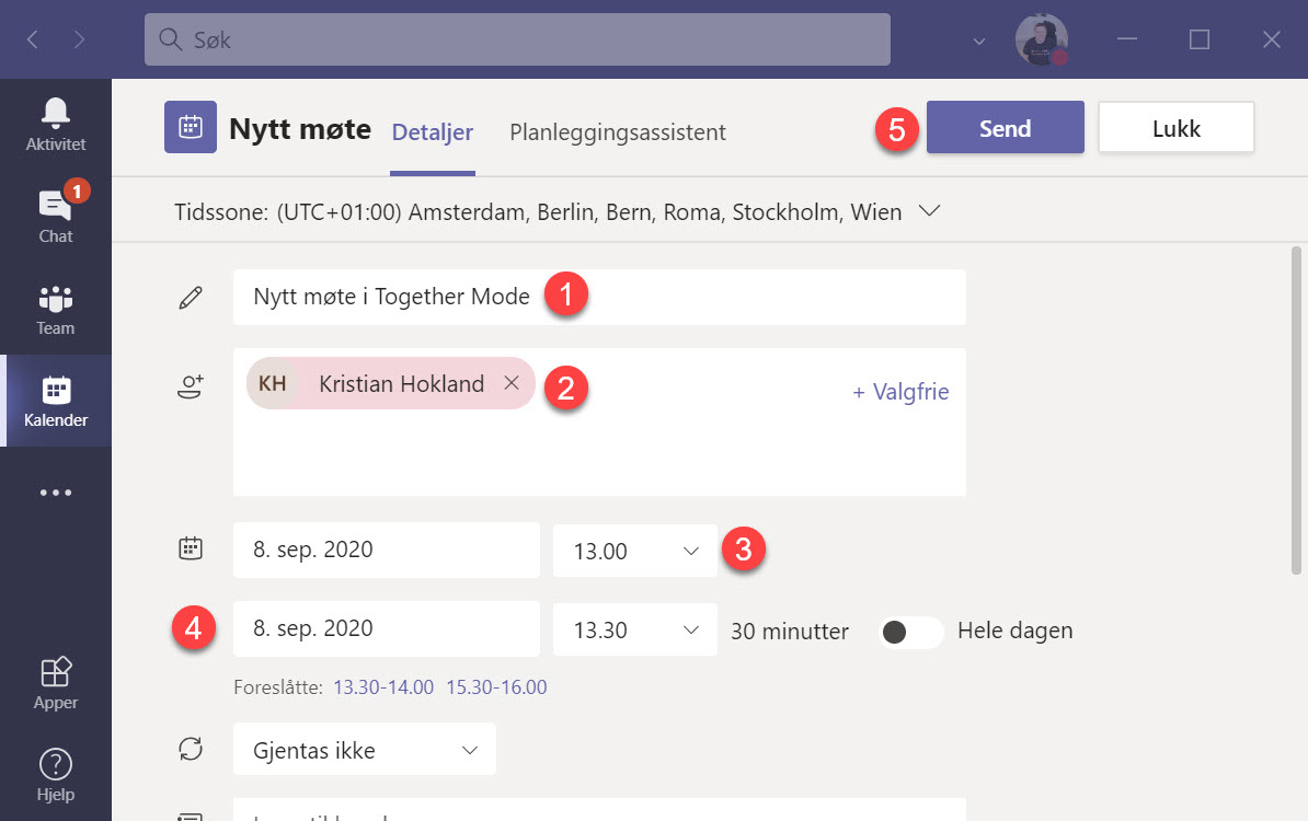 Hvordan bruke Together Mode i Microsoft Teams 2