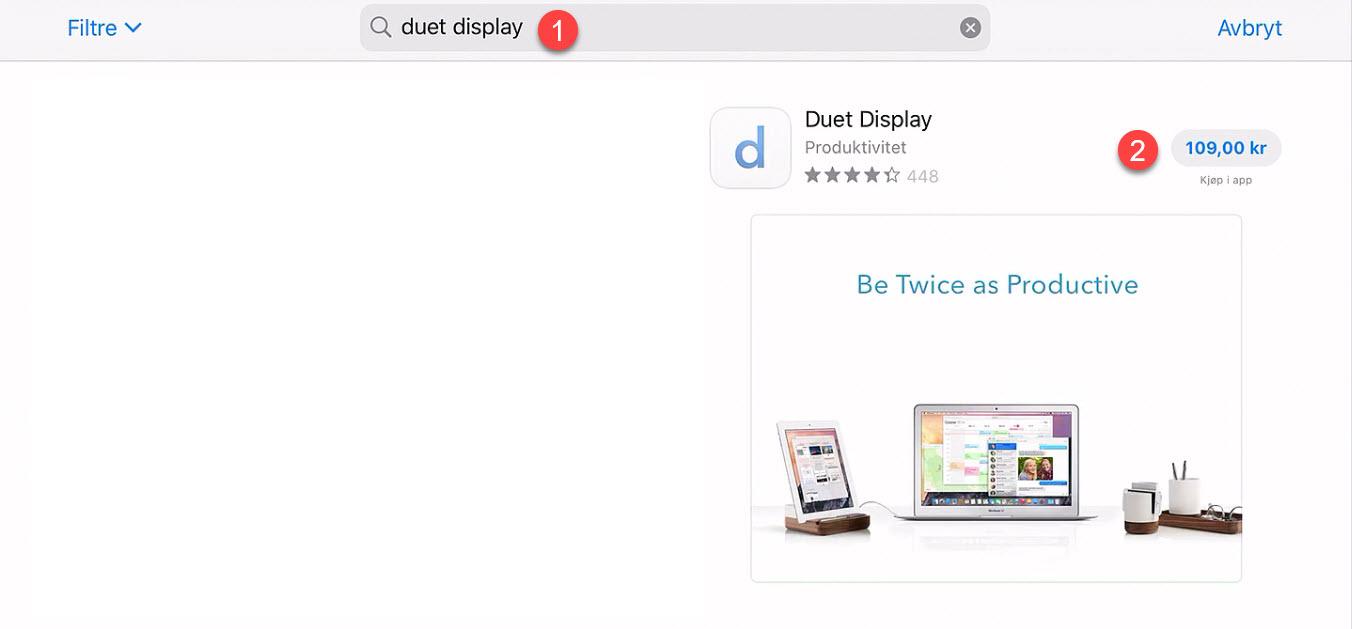 Hvordan bruke iPad som ekstra skjerm 1