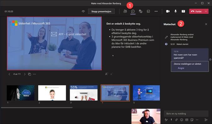 Hvordan bruke presenter View i Microsoft Teams 11