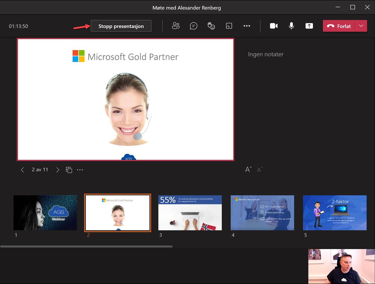 Hvordan bruke presenter View i Microsoft Teams 13