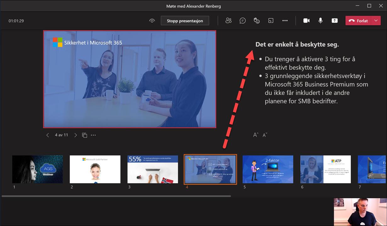 Hvordan bruke presenter View i Microsoft Teams 5