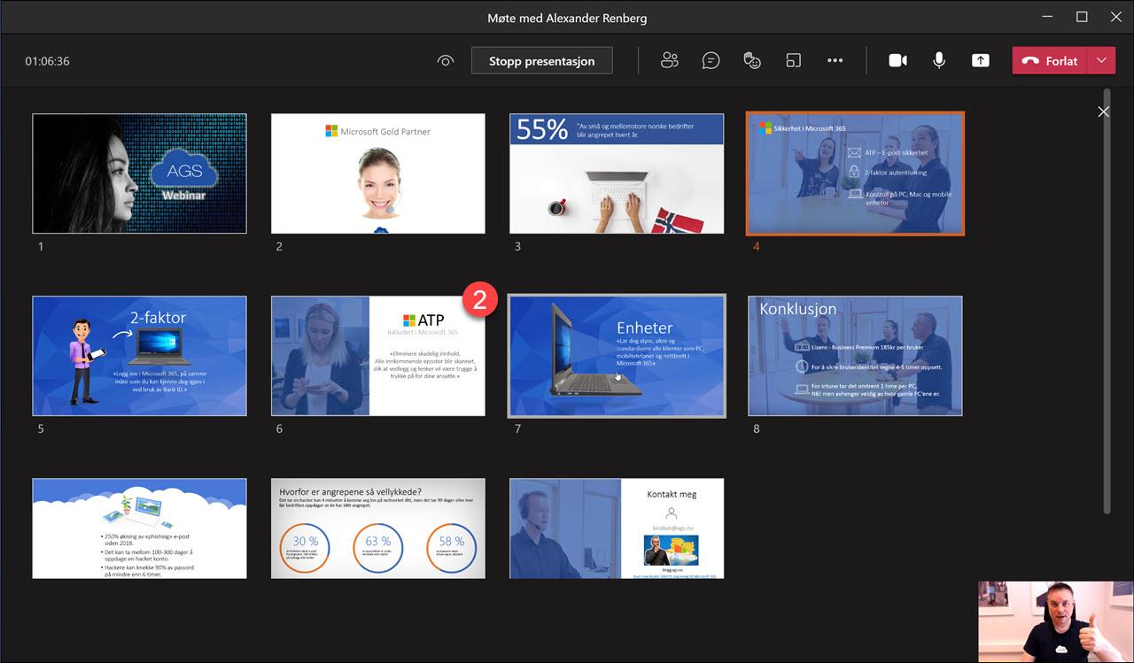 Hvordan bruke presenter View i Microsoft Teams 8