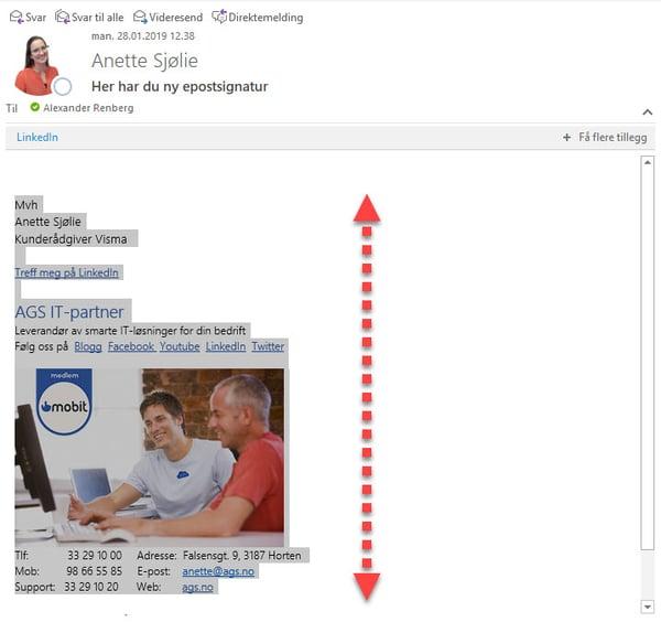 Hvordan endre epost signatur i Outlook 1