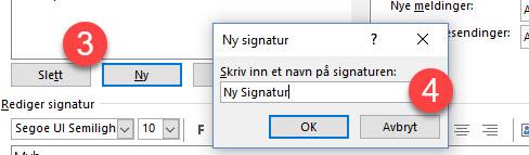Hvordan endre epost signatur i Outlook 3