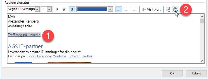 Hvordan endre epost signatur i Outlook 6