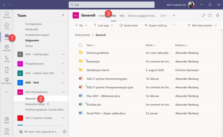 Hvordan feste filer og mapper i Microsoft Teams 1