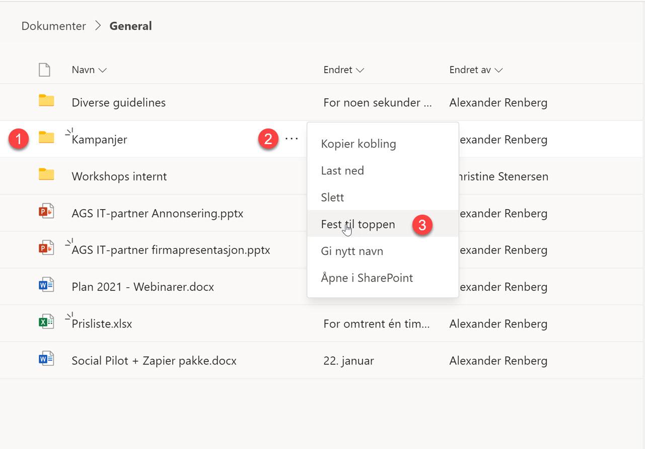 Hvordan feste filer og mapper i Microsoft Teams 3