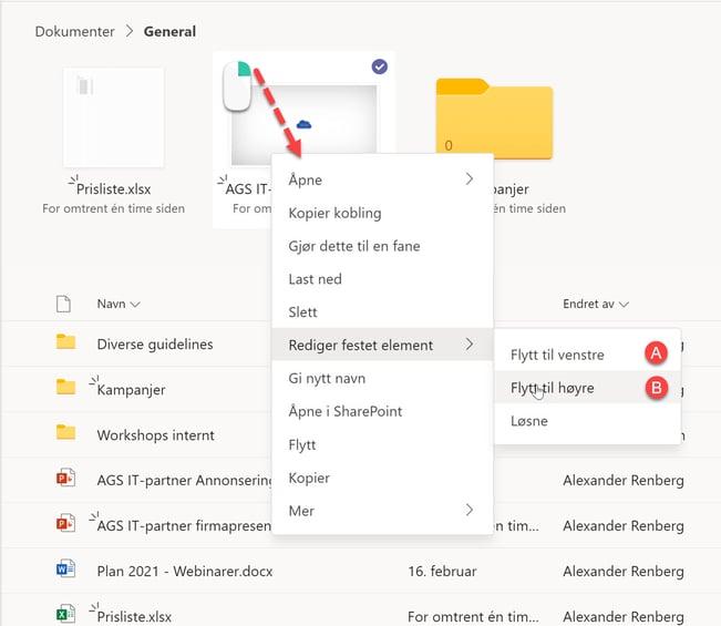 Hvordan feste filer og mapper i Microsoft Teams 8