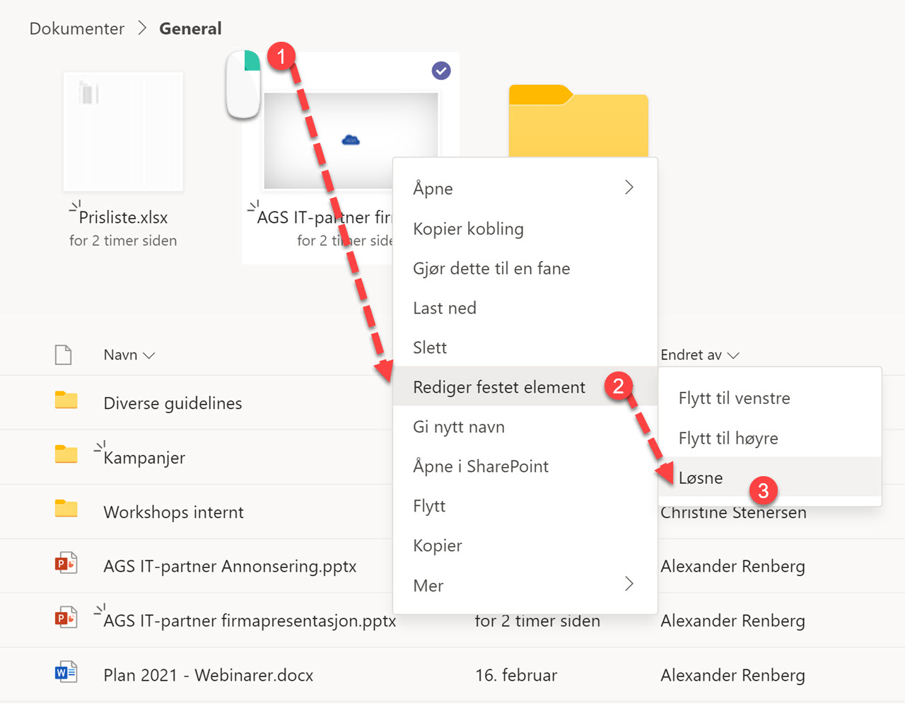 Hvordan feste filer og mapper i Microsoft Teams 9