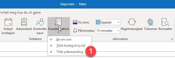 Hvordan hindre videresending av et møte i Outlook 2