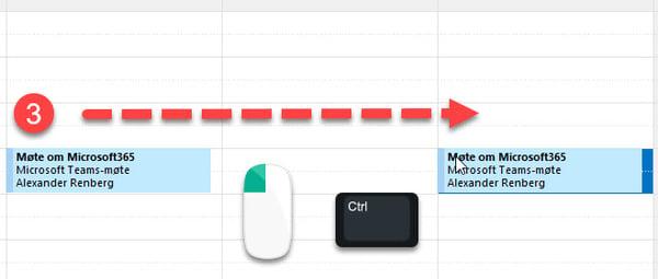 Hvordan kopiere møter og avtaler i Outlook-kalenderen 2
