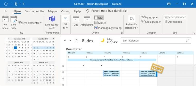 Hvordan kopiere møter og avtaler i Outlook-kalenderen 8