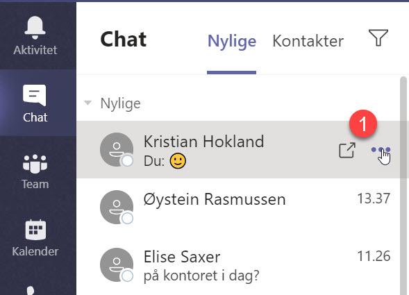 Hvordan løsne chat vinduet i Microsoft Teams 1