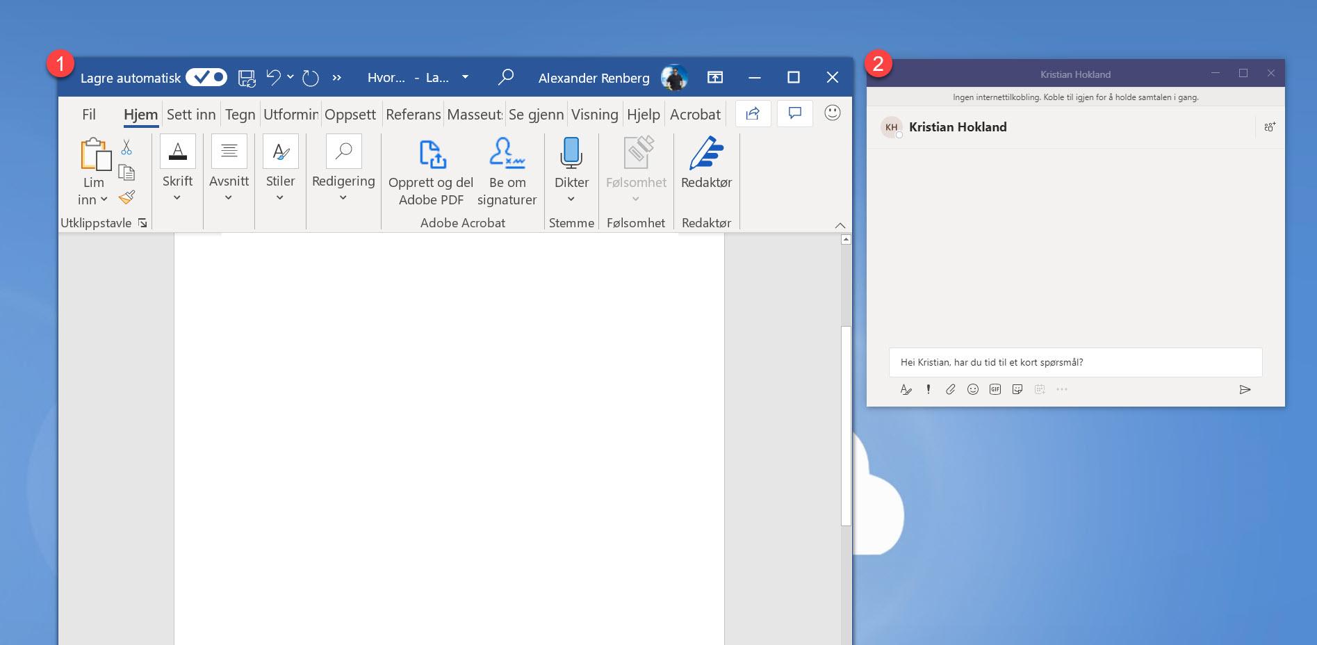 Hvordan løsne chat vinduet i Microsoft Teams 3
