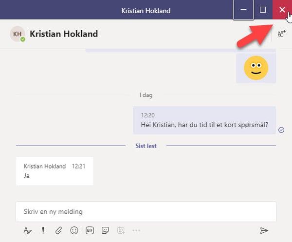 Hvordan løsne chat vinduet i Microsoft Teams 4