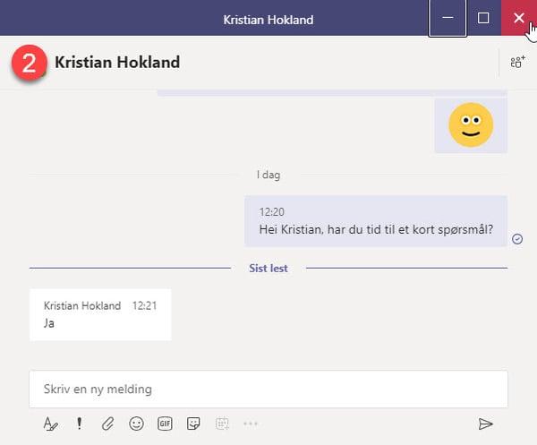 Hvordan løsne chat vinduet i Microsoft Teams 5