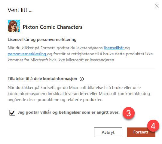 Hvordan lage Powerpoint presentasjon med Pixton comic characters 4