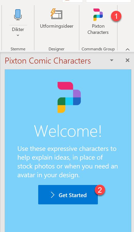 Hvordan lage Powerpoint presentasjon med Pixton comic characters 6