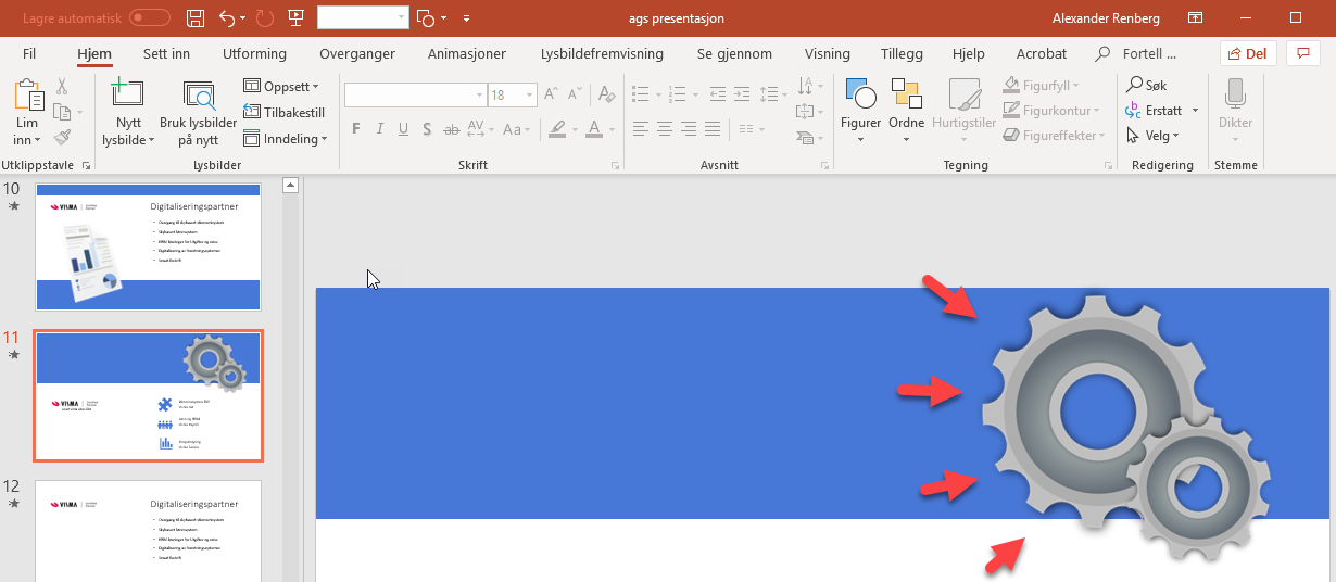 Hvordan lage animasjon med 2D objekt i Powerpoint 4