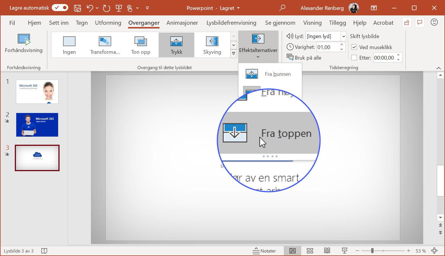 Hvordan lage animert GIF i Powerpoint 5