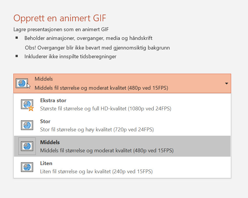 Hvordan lage animert GIF i Powerpoint 8