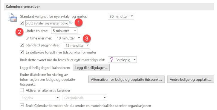 Hvordan lage automatisk pause mellom møter i Outlook. 4