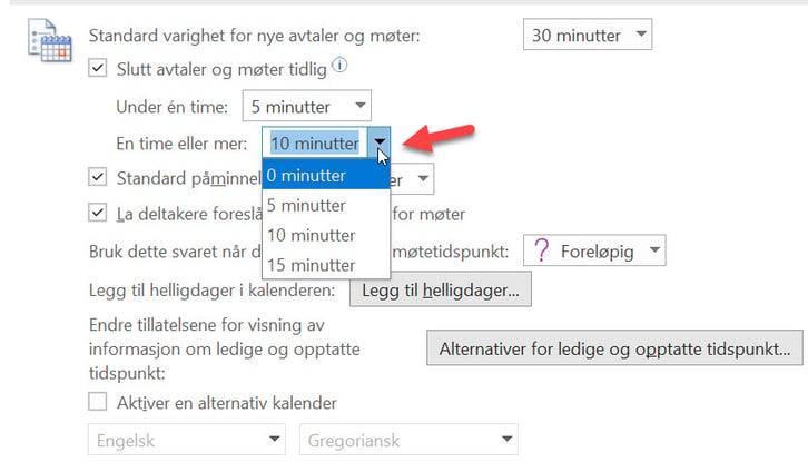 Hvordan lage automatisk pause mellom møter i Outlook. 5