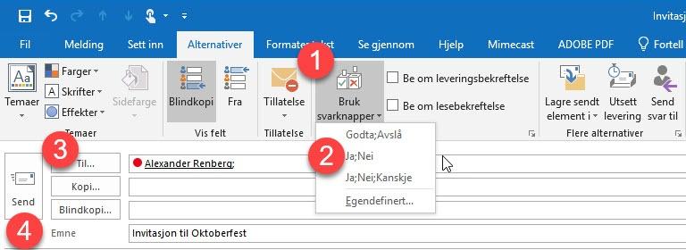 Hvordan lage avspørringer i Outlook 5
