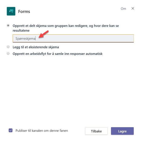 Hvordan lage spørreundersøkelse med Forms for Excel 2-2