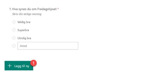 Hvordan lage spørreundersøkelse med Forms for Excel 9